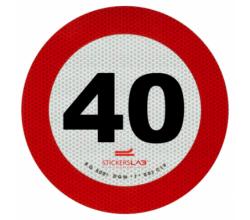 DISCO LIMITE VELOCITA' 40 KM/H
